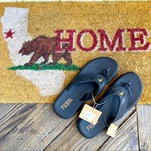 Flojos Black Sandals for Men size 12
